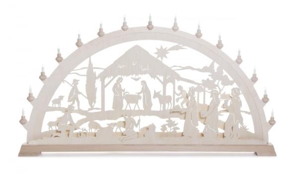 Schwibbogen mit Christi Geburt, elektrisch beleuchtet