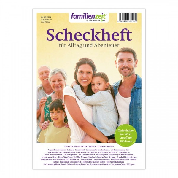 familienzeit Scheckheft 2021/22 - Sachsen