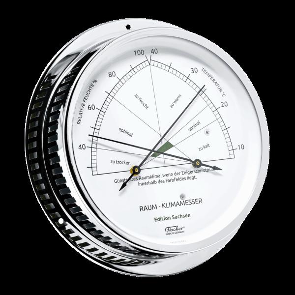 Raum-Klimamesser - Edition Sachsen - Messing verchromt