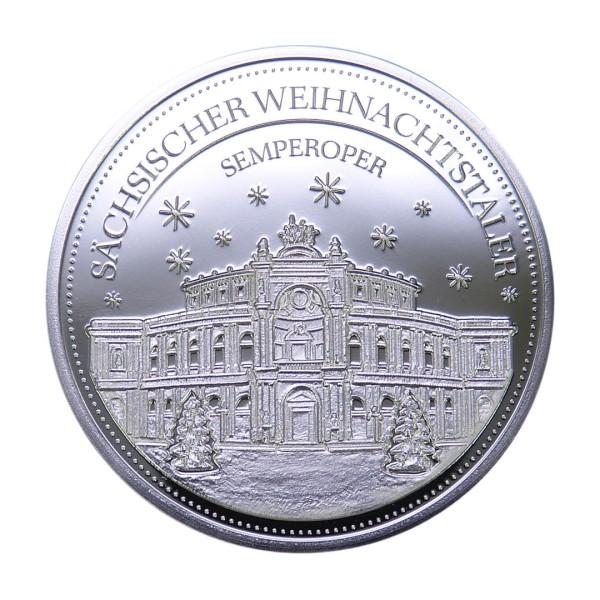 Sächsischer Weihnachtstaler 2020 - Silber