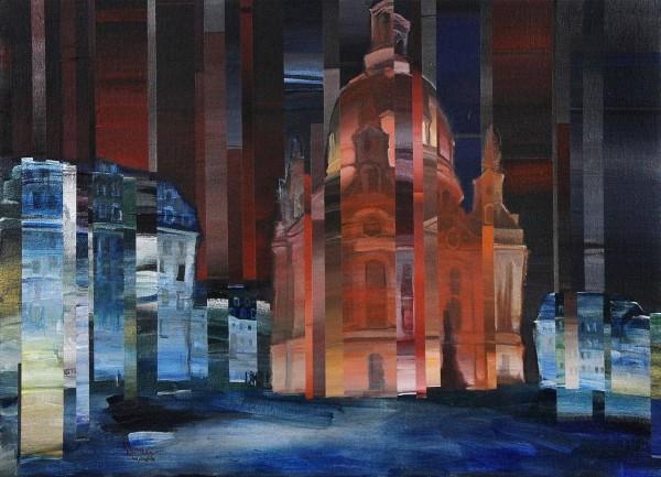 André Ismer - Frauenkirche mit Neumarkt - Originalgemälde
