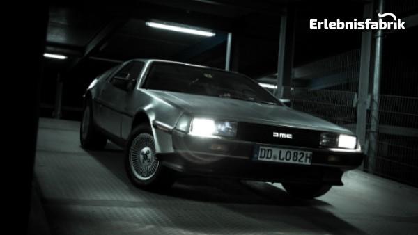 Rundfahrt im DeLorean in Dresden