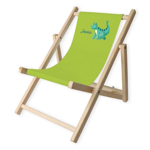 Kinder-Liegestuhl Dino mit Personalisierung