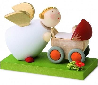 Schutzengel mit Kinderwagen