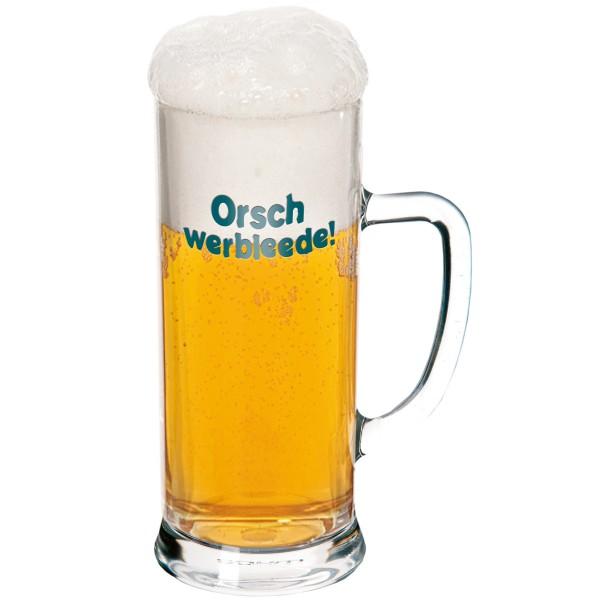 """Bierglas """"Orschwerbleede"""""""