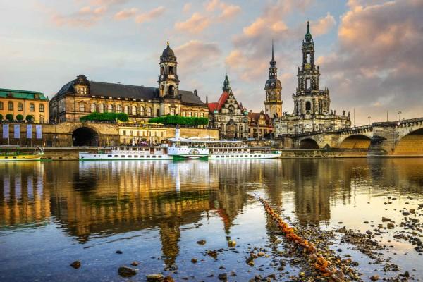 Wandbild Dresden - Die Kathedrale im Abendlicht (Motiv DMDD20)