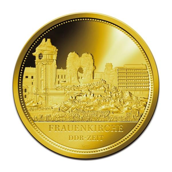 Sonderprägung Feingold - Dresden - DDR-Zeit