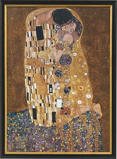 Gustav Klimt: Bild Der Kuss (1907-08)
