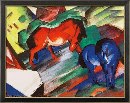 """Franz Marc: Bild """"Rotes und blaues Pferd"""" (1912)"""