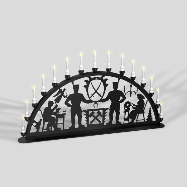 Schwibbogen Bergmänner - 15er Lichterkette