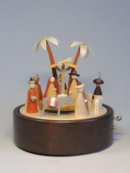 Spieldose Christi Geburt - 22 cm