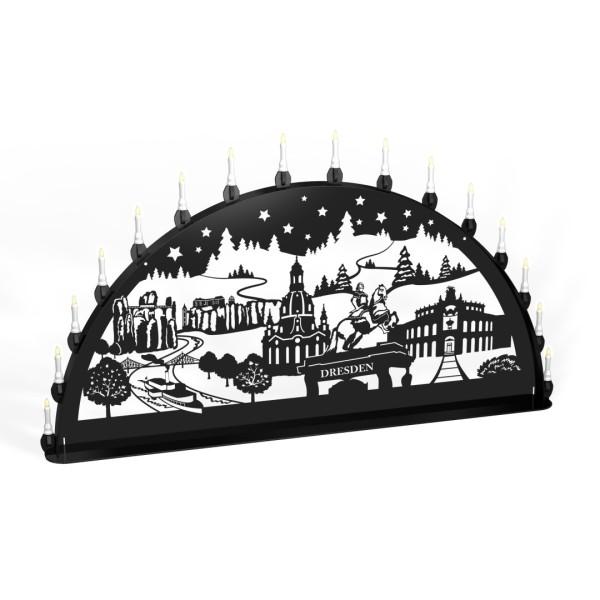 Außen-Schwibbogen Dresden - 15er Lichterkette
