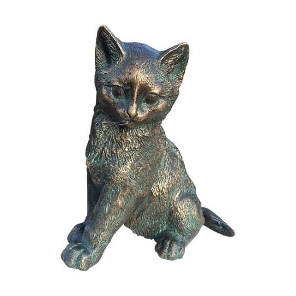 Gartenskulptur Junges Kätzchen Bronze