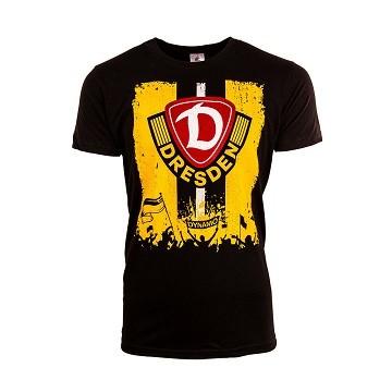 "Dynamo Dresden - T-Shirt ""Flagge"" schwarz"