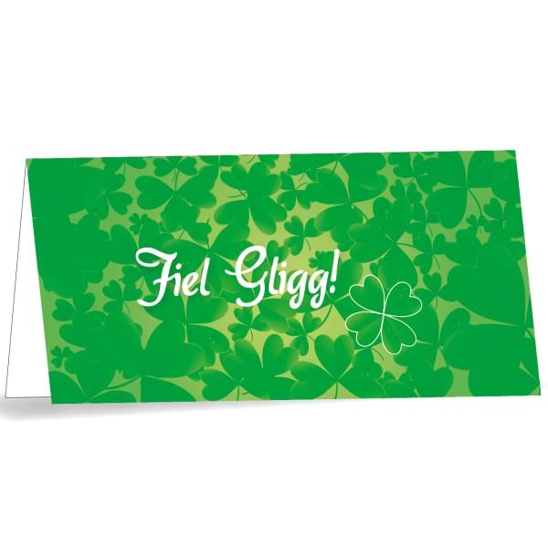 Karte mit Umschlag Fiel Gligg quer