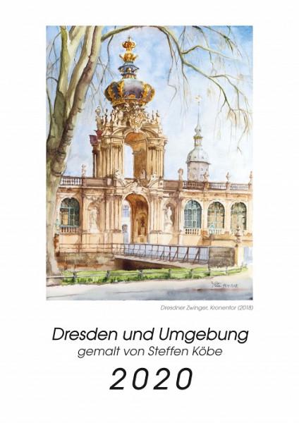 Dresden Kalender 2020 - Aquarellkalender von Steffen Köbe