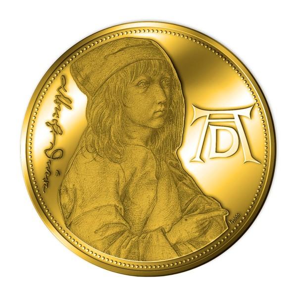 Sonderprägung Feingold 2021 – 550. Geburtstag Albrecht Dürer – Selbstbildnis des Dreizehnjährigen