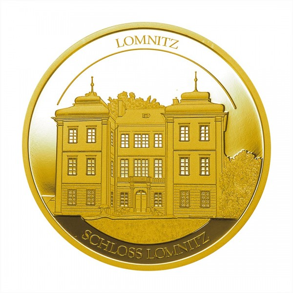 Sonderprägung Feingold 2021 – Schlesien Sammeledition – Schloss Lomnitz