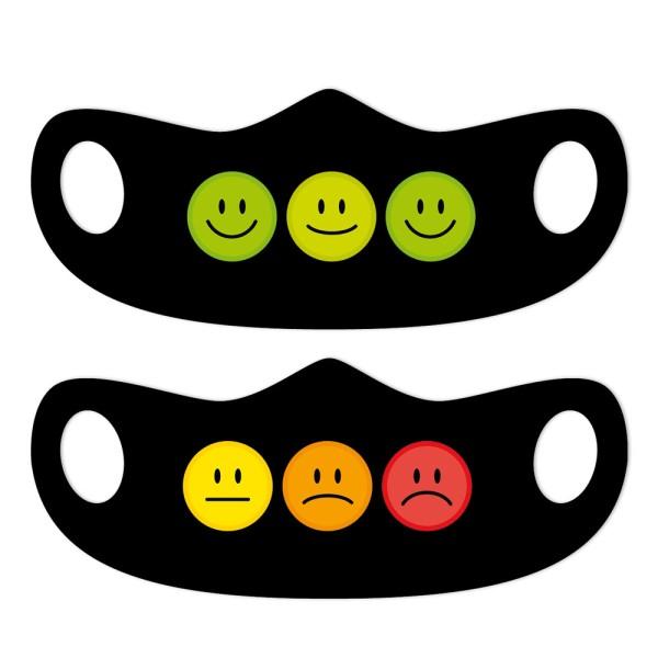 Mund- und Nasenmasken Smileys 2er Set