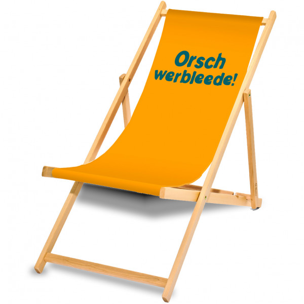 """Holzliegestuhl """"Orschwerbleede"""""""