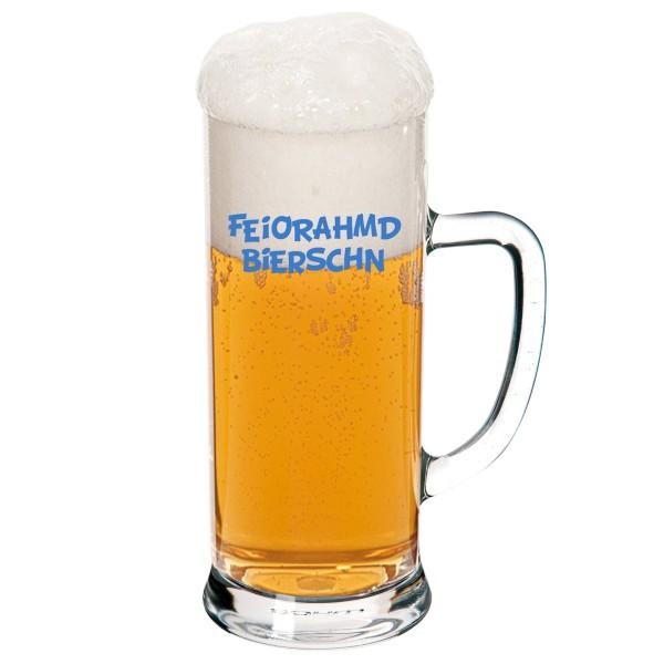"Bierglas ""Feiorahmdbierschn"""