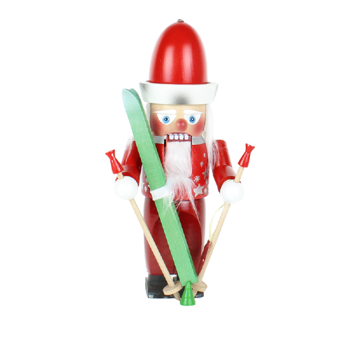 Nussknacker Skiing Santa