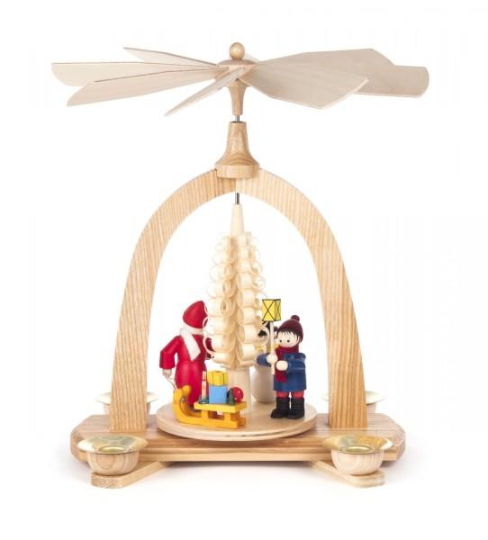 """Weihnachtspyramide """"Weihnachtszeit"""" für Kerzen Durchmesser 14mm"""