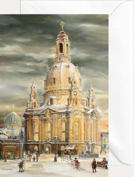 Weihnachtsklappkarte - Dresdner Frauenkirche Neu