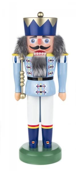 Nussknacker König hellblau-weiß, 34cm