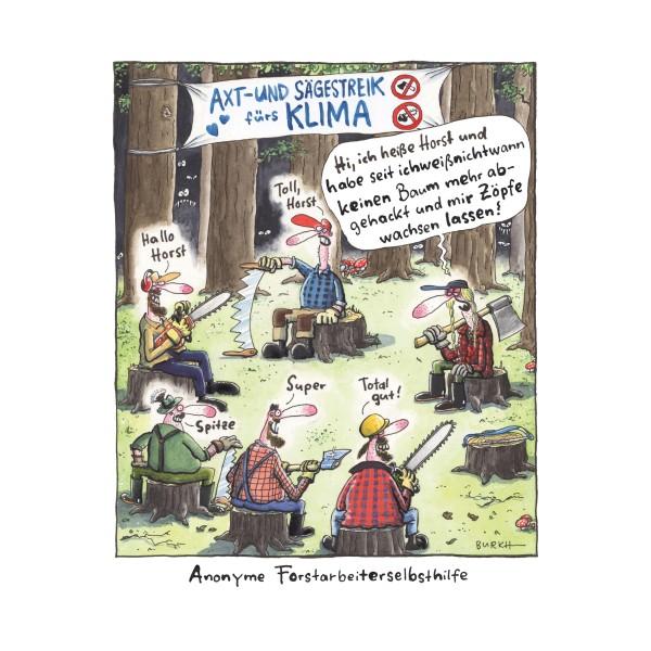 """Kunstdruck """"Forstmitarbeiter"""" - BURKH"""