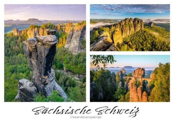 Postkarte Sächsische Schweiz - Felsen (Motiv PO_SSW_1)