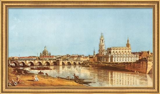 Canaletto (Bernardo Bellotto): Bild Dresden vom rechten Elbufer (1751)