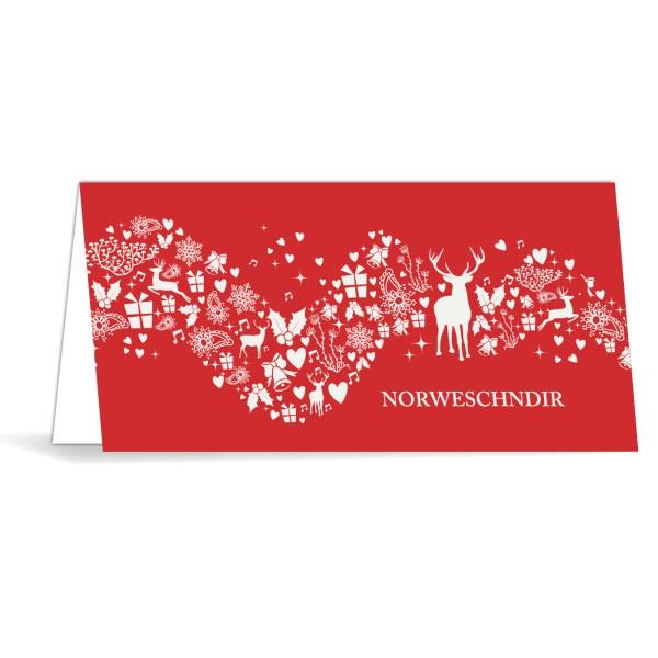 """Karte mit Umschlag """"Norweschendir"""""""