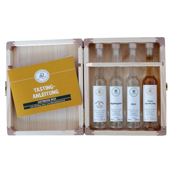 Getreide-Brände Tasting-Box in Geschenkverpackung
