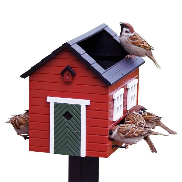 Futterspender Vogelbad Rotes Haus