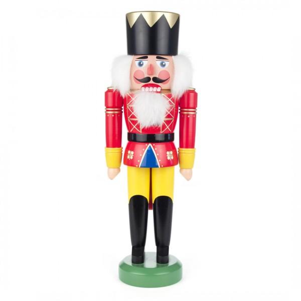 Nussknacker König rot-gelb, 41cm