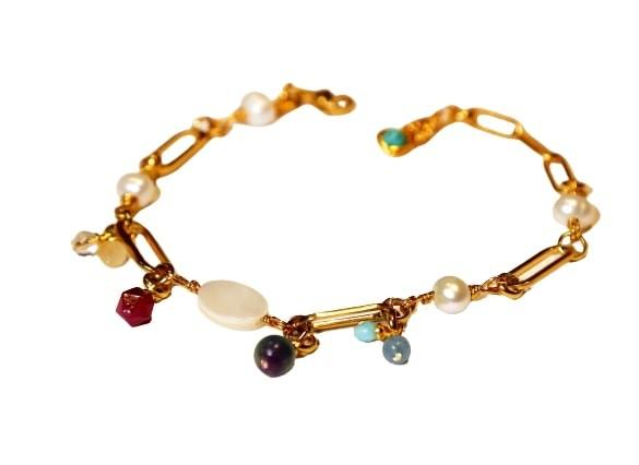 """Mein Glücksstein - Armband """"Stella"""" vergoldet"""