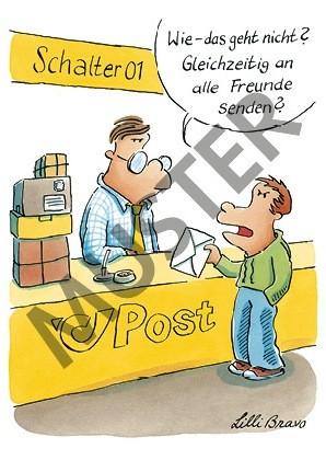 "Postkarte ""Massenmail"""