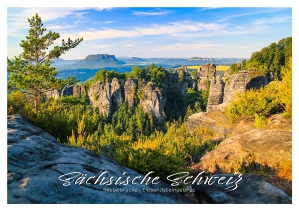 Postkarte Sächsische Schweiz - Bastei & Lilienstein (Motiv PO_SSW_7)