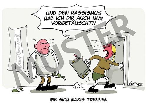 """Postkarte """"Wie sich Nazis trennen"""""""