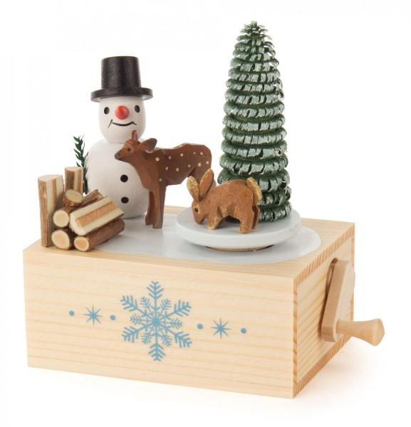 Klimperkästchen Schneemann Melodie: Winter Wonderland