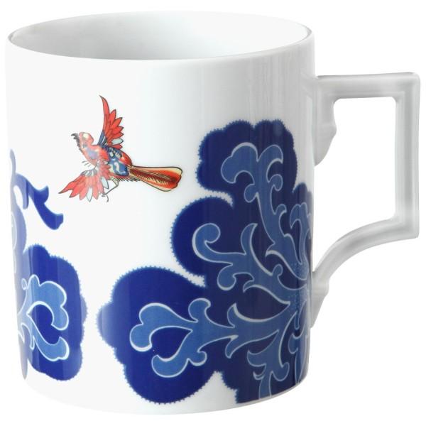 DDV Lokal Exklusiv - Meissener Porzellan - Henkelbecher Indian Bird
