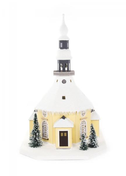 Lichterhaus Seiffener Kirche, elektrische Beleuchtung