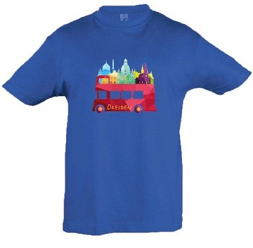 "Kinder-T-Shirt ""Dresden-Bus"""