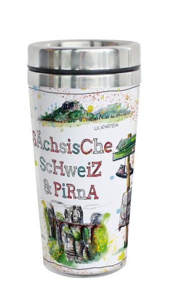 Sächsische Schweiz - Fineart: Coffee-to-go-Becher