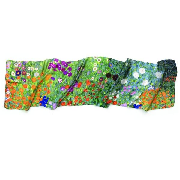 Gustav Klimt: Seidenschal Bauerngarten