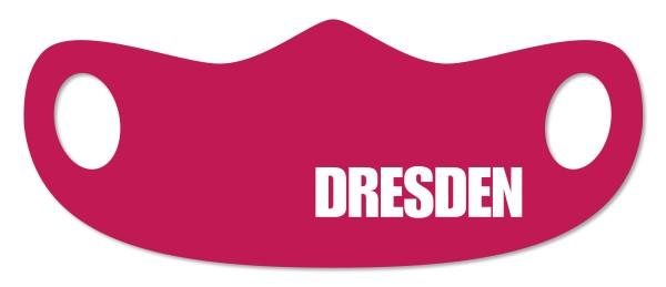 """Mund- und Nasenmaske """"Dresden"""" weinrot"""