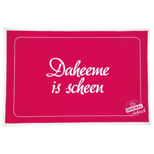 Fußmatte / Abstreicher - Daheeme is scheen