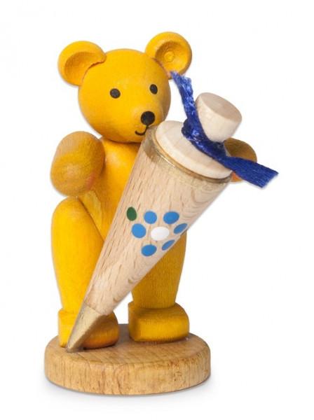 Teddybär mit blauer Zuckertüte