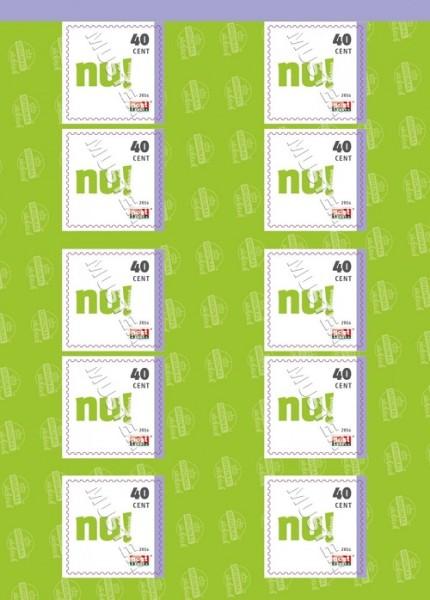 "10er Block Postkarte (0,40 €) ""Original Sächsisch"" 2016"